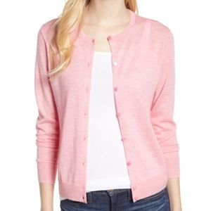 J Crew blush pink cashmere cardigan